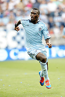 Kansas City forward C. J Sapong... Sporting Kansas City defeated San Jose Earthquakes 2-1 at LIVESTRONG Sporting Park, Kansas City, Kansas.