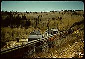 Excursion train at Sublette.<br /> D&amp;RGW  Sublette, NM