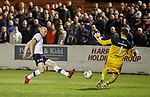 22.11.2019 Linlithgow Rose v Falkirk: Conor Sammon scores the opening goal for Falkirk