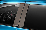 Carbon fiber window molding closeup view of a 2011 Mitsubishi Outlander Sport SE