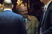 Former Secretary of Defense Robert Gates is seen in an elevator in the lobby of Trump Tower in New York, NY, USA on December 1, 2016. Credit: Albin Lohr-Jones / Pool via CNP