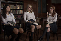 AnnaSophia Robb, Rosie Day &amp; Victoria Moroles in Down a Dark Hall (2018) <br /> *Filmstill - Editorial Use Only*<br /> CAP/RFS<br /> Image supplied by Capital Pictures