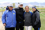 Makaylee Jaussi with coaches at the Sophomore Day celebration after the first game of the Western Nevada College softball doubleheader on Saturday, April 30, 2016 at Pete Livermore Sports Complex. Photo by Shannon Litz/Nevada Photo Source