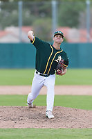 Oakland Athletics relief pitcher Bryce Nightengale (46) delivers a pitch during an exhibition game against Team Italy at Lew Wolff Training Complex on October 3, 2018 in Mesa, Arizona. (Zachary Lucy/Four Seam Images)