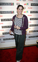 SARAH SILVERMAN.The Ante Up for Africa Celebrity Poker Tournament at the Rio Resort Hotel and Casino, Las Vegas, Nevada, USA..July 2nd, 2009.full length grey gray tracksuit bottoms purple black white striped stripes red bull.CAP/ADM/MJT.© MJT/AdMedia/Capital Pictures