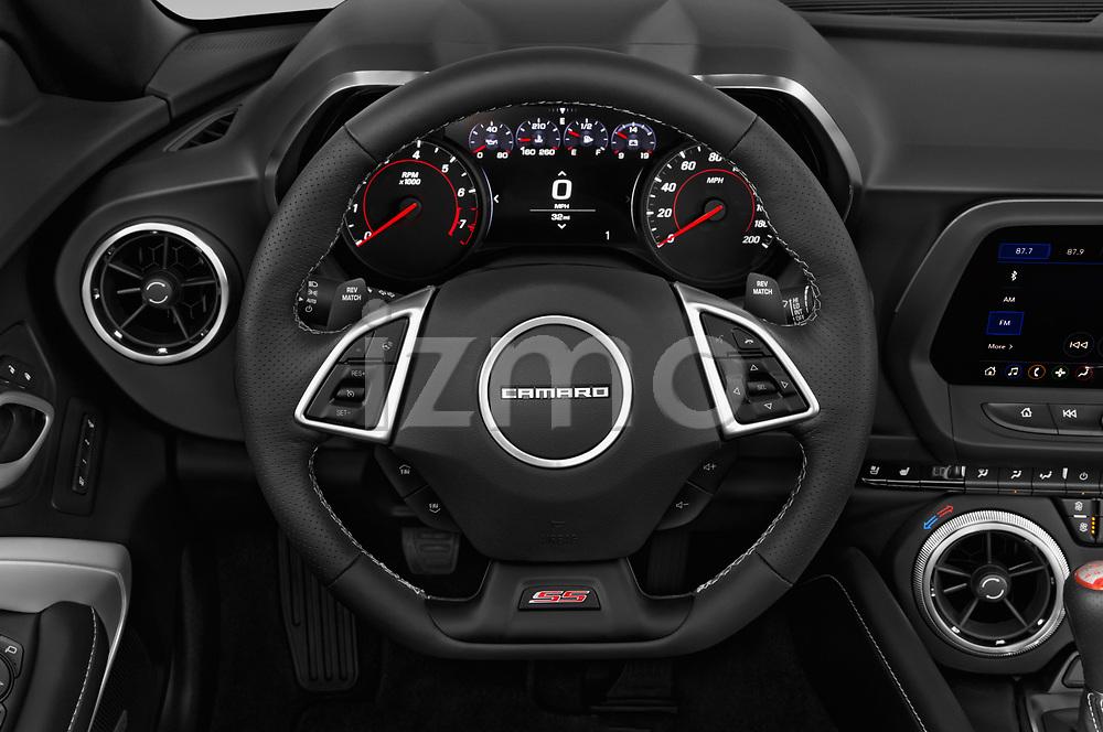 Car pictures of steering wheel view of a 2019 Chevrolet Camaro 2SS 2 Door Convertible