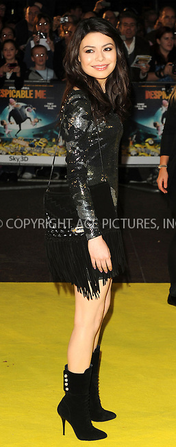 """WWW.ACEPIXS.COM . . . . .  ..... . . . . US SALES ONLY . . . . .....October 11 2010, London....Miranda Cosgrove at the UK premiere for """"Despicable Me"""" at The Empire Cinema, Leicester Square on October 11 2010 in London....Please byline: FAMOUS-ACE PICTURES... . . . .  ....Ace Pictures, Inc:  ..Tel: (212) 243-8787..e-mail: info@acepixs.com..web: http://www.acepixs.com"""