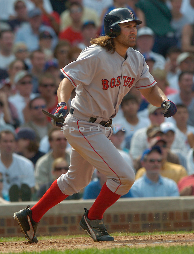 Johnny Damon during the Boston Red Sox v. Chicago Cubs game on June 10, 1005..Cubs win 14-6..David Durochik / SportPics