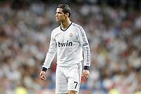 Real Madrid's Cristiano Ronaldo dejected during Champions League match. September 18, 2012. (ALTERPHOTOS/Alvaro Hernandez). /NortePhoto.com<br /> <br /> **CREDITO*OBLIGATORIO** *No*Venta*A*Terceros*<br /> *No*Sale*So*third* ***No*Se*Permite*Hacer Archivo***No*Sale*So*third<br /> <br /> <br /> **CREDITO*OBLIGATORIO** *No*Venta*A*Terceros*<br /> *No*Sale*So*third* ***No*Se*Permite*Hacer Archivo***No*Sale*So*third