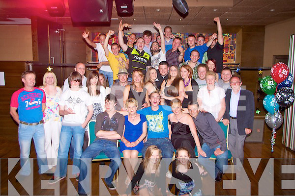 -0741-0744.-----------.Key to the Door.---------------.Craig Floor(seated centre)from Lixnaw,celebrated his 21st birthday last Saturday night in the Grand Hotel,Denny St,Tralee with lots of family and friends.