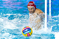 13 MITROVIC Branislav SRB (Red Cap) <br /> SRB -ESP Serbia (white caps) vs. Spain (blue caps) <br /> Barcelona 28/07/2018 Piscines Bernat Picornell <br /> Men Final 1st 2nd place <br /> 33rd LEN European Water Polo Championships - Barcelona 2018 <br /> Photo Andrea Staccioli/Deepbluemedia/Insidefoto