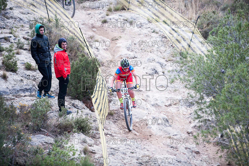 Chelva, SPAIN - MARCH 6: Aurea Ruiz during Spanish Open BTT XCO on March 6, 2016 in Chelva, Spain