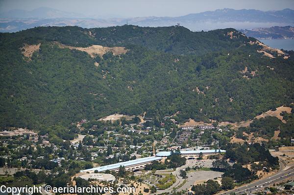 aerial photograph Marin Civic Center, Marin County, California