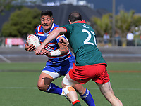 James So'oialo in action during the 2018 Heartland Championship Lochore Cup rugby final between Horowhenua Kapiti and Wairarapa Bush at Levin Domain in Levin, New Zealand on Sunday, 28 October 2018. Photo: Dave Lintott / lintottphoto.co.nz