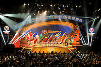 New York City - February 21, 2016: Copa America Centenario Draw USA 2016 at Hammerstein Ballroom in New York City.