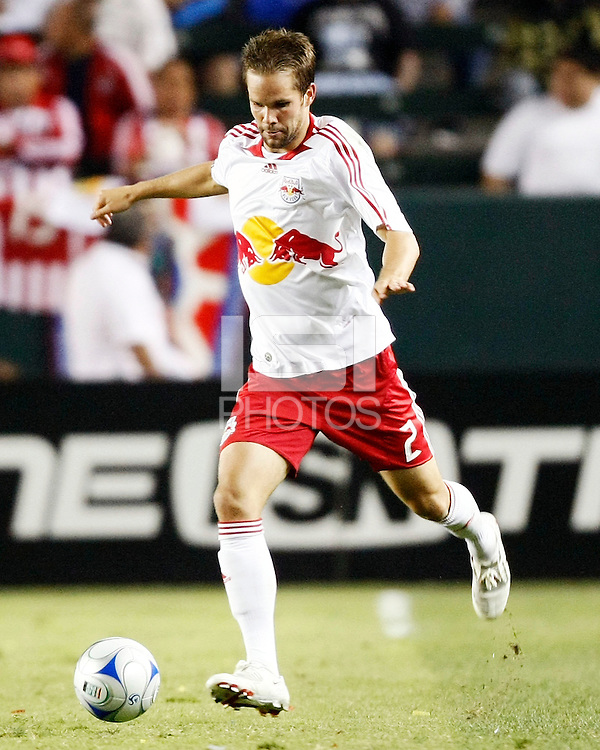 NY Red Bulls defender, Kevin Goldthwaite(2) in action during the 2nd half. Chivas USA  took on the NY Red Bulls on June 28, 2008 at the Home Depot Center in Carson, CA. The game ended in a 1-1 tie.