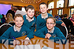 Darragh Moriarty, Denis Moriarty, Padraig Finigan and Kiara O'Keefe from Holy family Rathmoore  at the Chapter 23 Credit Union Schools Quiz finals at Ballyroe Heights Hotel on Sunday