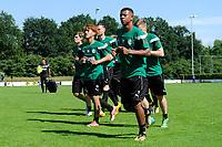 HAREN - Voetbal, Eerste Training FC Groningen  sportpark de Koepel, 01-07-2017,  FC Groningen speler Ritsu Doan met FC Groningen speler Juninho Bacuna