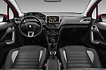 Stock photo of straight dashboard view of 2016 Peugeot 2008 Allure 5 Door SUV Dashboard
