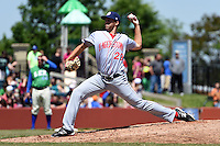 Hagerstown Suns pitcher Joseph Webb (29) delivers a pitch during a game against the Lexington Legends on May 19, 2014 at Whitaker Bank Ballpark in Lexington, Kentucky.  Lexington defeated Hagerstown 10-8.  (Mike Janes/Four Seam Images)