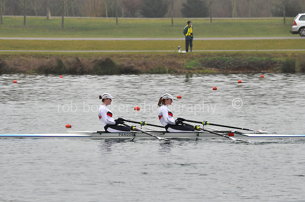 350 Pangbourne Coll W.J16A.2x..Marlow Regatta Committee Thames Valley Trial Head. 1900m at Dorney Lake/Eton College Rowing Centre, Dorney, Buckinghamshire. Sunday 29 January 2012. Run over three divisions.