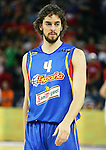 Spain's Pau Gasol during a friendly match between Spain and Poland at Madrid Arena stadium in Madrid, Saturday August 05 2006. (ALTERPHOTOS/Alvaro Hernandez).