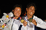Shingen Furuya & Shinji Hachiyama (JPN), <br /> AUGUST 31, 2018 - Sailing : Men's 49er Victory ceremony at Indonesia National Sailing Center during the 2018 Jakarta Palembang Asian Games in Jakarta, Indonesia. <br /> (Photo by MATSUO.K/AFLO SPORT)