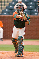 Catcher Torre Langley #2 of the Greensboro Grasshoppers at NewBridge Bank Park June 20, 2009 in Greensboro, North Carolina. (Photo by Brian Westerholt / Four Seam Images)