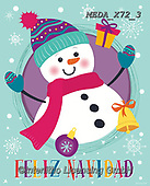Dreams, CHRISTMAS SANTA, SNOWMAN, WEIHNACHTSMÄNNER, SCHNEEMÄNNER, PAPÁ NOEL, MUÑECOS DE NIEVE, paintings+++++,MEDAX72/3,#X#