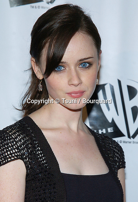 Alexis Bledel arriving at the WB - tca Winter Party on the Warner Lot,  in Los Angeles. January 22, 2005.