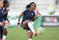 Boyds, MD - Saturday May 14, 2016: Washington Spirit forward Crystal Dunn (19) before a regular season National Women's Soccer League (NWSL) match at Maureen Hendricks Field, Maryland SoccerPlex. The Washington Spirit defeated the Houston Dash 1-0.