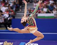 September 14, 2018 - Sofia, Bulgaria - KATSIARYNA HALKINA of Belarus performs in AA final at 2018 World Championships.