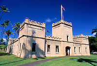The Iolani Barracks. Built in 1871 to house the Royal Guard. Located on the grounds of the Iolani Palace in downtown Honolulu, the barracks now serve as a museum.
