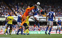 Ipswich Town's Dean Gerken makes a save during todays game<br /> <br /> Photographer Rachel Holborn/CameraSport<br /> <br /> The EFL Sky Bet Championship - Ipswich Town v Blackburn Rovers - Saturday 4th August 2018 - Portman Road - Ipswich<br /> <br /> World Copyright &copy; 2018 CameraSport. All rights reserved. 43 Linden Ave. Countesthorpe. Leicester. England. LE8 5PG - Tel: +44 (0) 116 277 4147 - admin@camerasport.com - www.camerasport.com