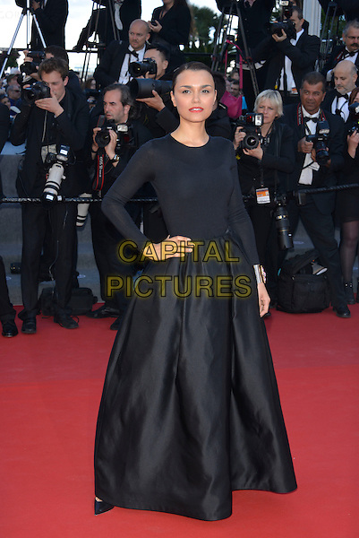 Samantha Barks.'Le Passe'  film premiere at the 66th Cannes Film Festival, Cannes, France, 17th May 2013..full length black long sleeved sleeve dress long maxi skirt hand on hip .CAP/PL.©Phil Loftus/Capital Pictures