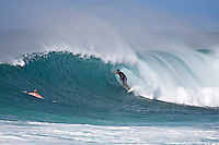 BEN DUNN (AUS) surfing at Off The Wall-Backdoor, North Shore of Oahu, Hawaii. Photo: joliphotos.com