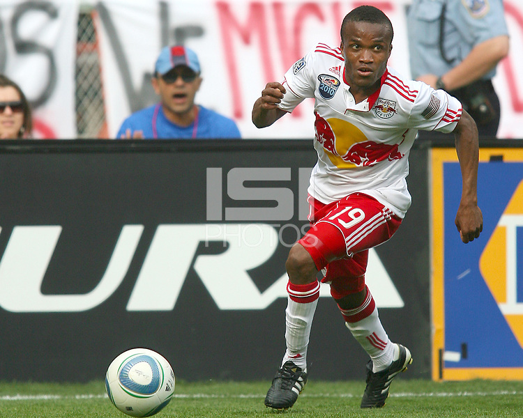 Dane Ricards #19 of the New York Red Bulls during an MLS match against D.C. United on May 1 2010, at RFK Stadium in Washington D.C. Red Bulls won 2-0.