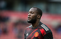 Romelu Lukaku of Man Utd ahead of the Premier League match between Stoke City and Manchester United at the Britannia Stadium, Stoke-on-Trent, England on 9 September 2017. Photo by Andy Rowland.