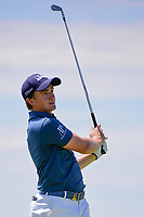 Paul Dunne (IRE) watches his tee shot on 13 during Friday's round 2 of the 117th U.S. Open, at Erin Hills, Erin, Wisconsin. 6/16/2017.<br /> Picture: Golffile | Ken Murray<br /> <br /> <br /> All photo usage must carry mandatory copyright credit (&copy; Golffile | Ken Murray)