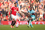 Anthony Martial of Manchester United during the Emirates FA Cup match at Old Trafford. Photo credit should read: Philip Oldham/Sportimage