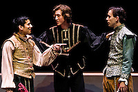 Rosencrantz & Guildenstern Are Dead is performed in Eastvold Auditorium at Pacific Lutheran University