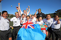 Fiji / Auckland celebrate winning the final against Russia / Poverty Bay on day two of the 2019 Air NZ Rippa Rugby Championship at Wakefield Park in Wellington, New Zealand on Tuesday, 27 August 2019. Photo: Dave Lintott / lintottphoto.co.nz