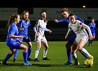 20.02.2020 OUD-HEVERLEE: OHL, Genk players are pictured in action during Belgian's Women's Super League match between Oud-Heverlee Leuven vs KRC Gent Ladies on Friday 20th February 2020, Stadion Oud-Heverlee, Oud-Heverlee, BELGIUM. PHOTO: SEVIL OKTEM