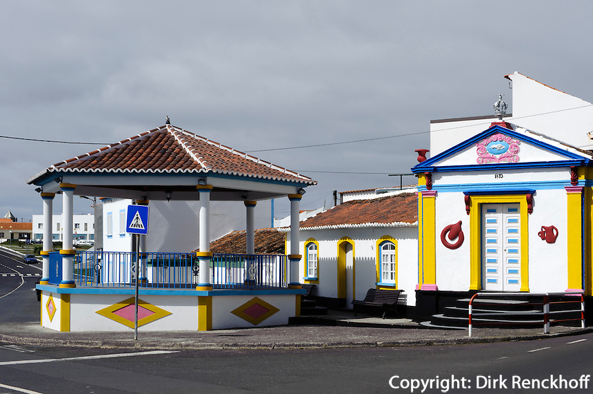 Heiliggeisttempel (Imperio) in Sao Mateus de Calheta auf der Insel Terceira, Azoren, Portugal