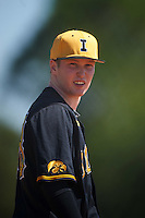 Iowa Hawkeyes first baseman Tyler Peyton (38) during a game against the Dartmouth Big Green on February 27, 2016 at South Charlotte Regional Park in Punta Gorda, Florida.  Iowa defeated Dartmouth 4-1.  (Mike Janes/Four Seam Images)