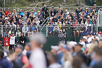 Tiger Woods (USA) on the 6th tee during the 3rd round of the US Open Championship, Pebel Beach Golf Links, Monterrey, Calafornia, USA. 15/06/2019.<br /> Picture Fran Caffrey / Golffile.ie<br /> <br /> All photo usage must carry mandatory copyright credit (© Golffile | Fran Caffrey)