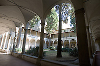Il chiostro della chiesa di Santa Maria del Carmine a Firenze.<br /> The cloister of the church of Santa Maria del Carmine, in Florence.<br /> UPDATE IMAGES PRESS/Riccardo De Luca