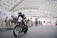 Serge Pauwels (BEL/Dimension Data) finishing inside the Orange V&eacute;lodrome<br /> <br /> 104th Tour de France 2017<br /> Stage 20 (ITT) - Marseille &rsaquo; Marseille (23km)