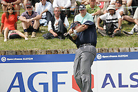 Colin Montgomerie tees off on the 17th tee during the 3rd round of the 2008 Open de France Alstom at Golf National, Paris, France June 28th 2008 (Photo by Eoin Clarke/GOLFFILE)