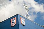 Detail of Ipswich Town Portman Road football stadium, Ipswich, Suffolk, England